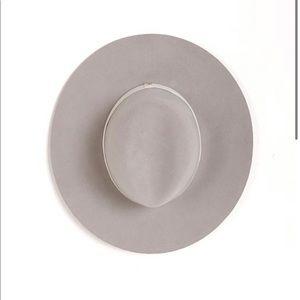 Janessa Leone Henningsen Fedora Hat Silver Sand